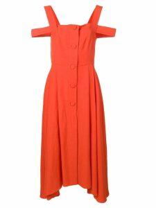 Isa Arfen cold-shoulder flared dress - Orange