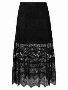McQ Alexander McQueen lace skirt - Black