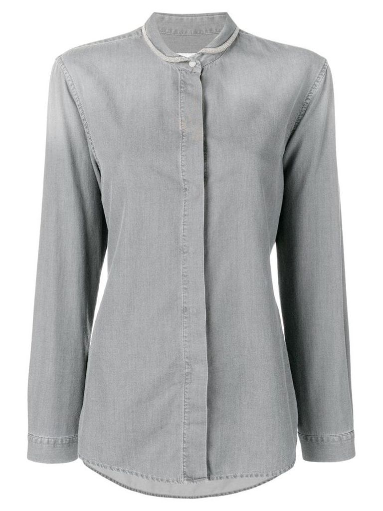 Fabiana Filippi slim-fit shirt - Grey