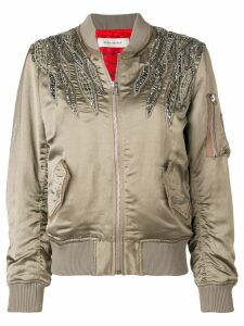 Each X Other embroidered bomber jacket - Neutrals