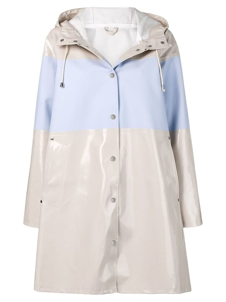 Stutterheim mosebacke stripe raincoat - Neutrals