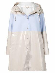 Stutterheim mosebacke stripe raincoat - Neutrals