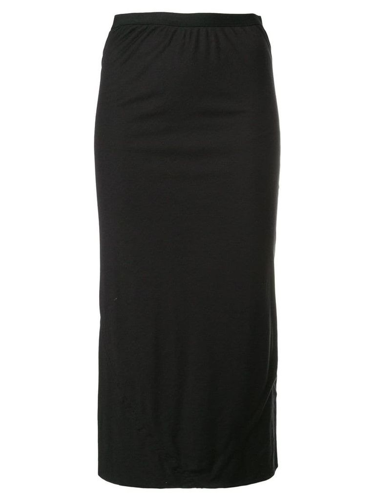 Rick Owens Lilies fitted midi skirt - Black