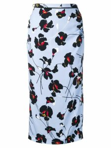 Nº21 floral-print skirt - Blue