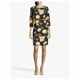 Betty Barclay Floral Print Dress, Dark Blue/Yellow