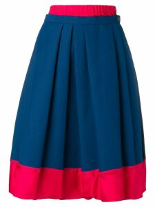 Marni layered midi skirt - Blue