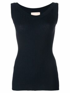 Erika Cavallini plain tank-top - Blue