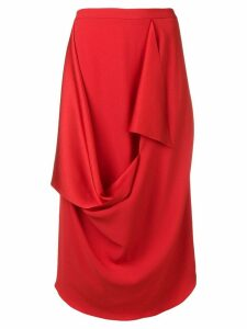 Chalayan draped detail skirt - Red