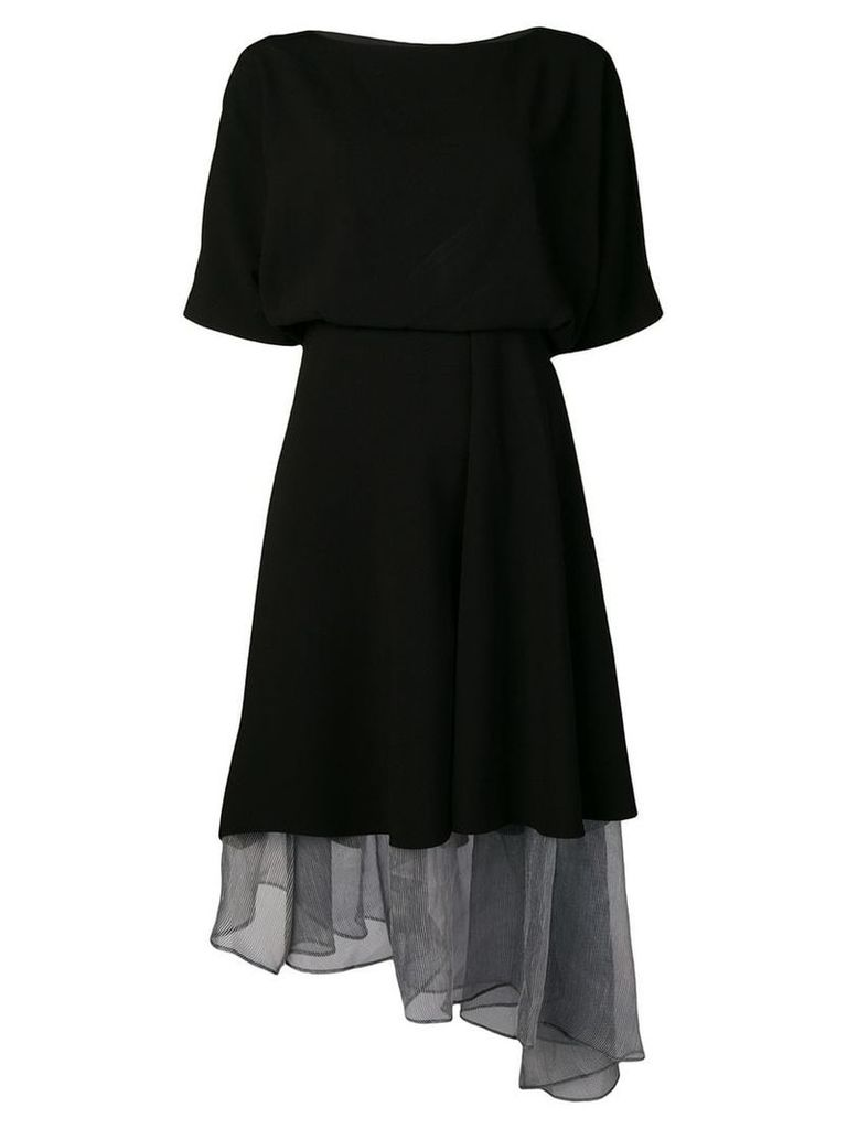 Chalayan sheer panel dress - Black