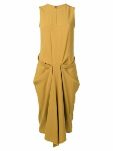 Chalayan draped detail dress - Gold