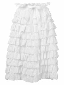 Dolce & Gabbana ruffled midi skirt - White