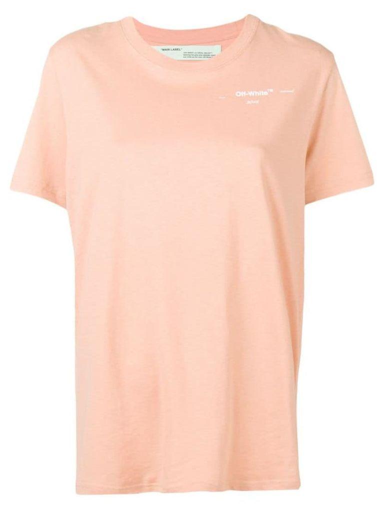 Off-White rear floral detail T-shirt - Neutrals