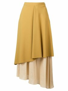Chalayan layered midi skirt - Yellow