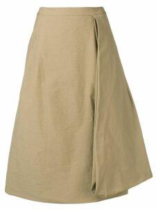 Chalayan A-line midi skirt - Neutrals