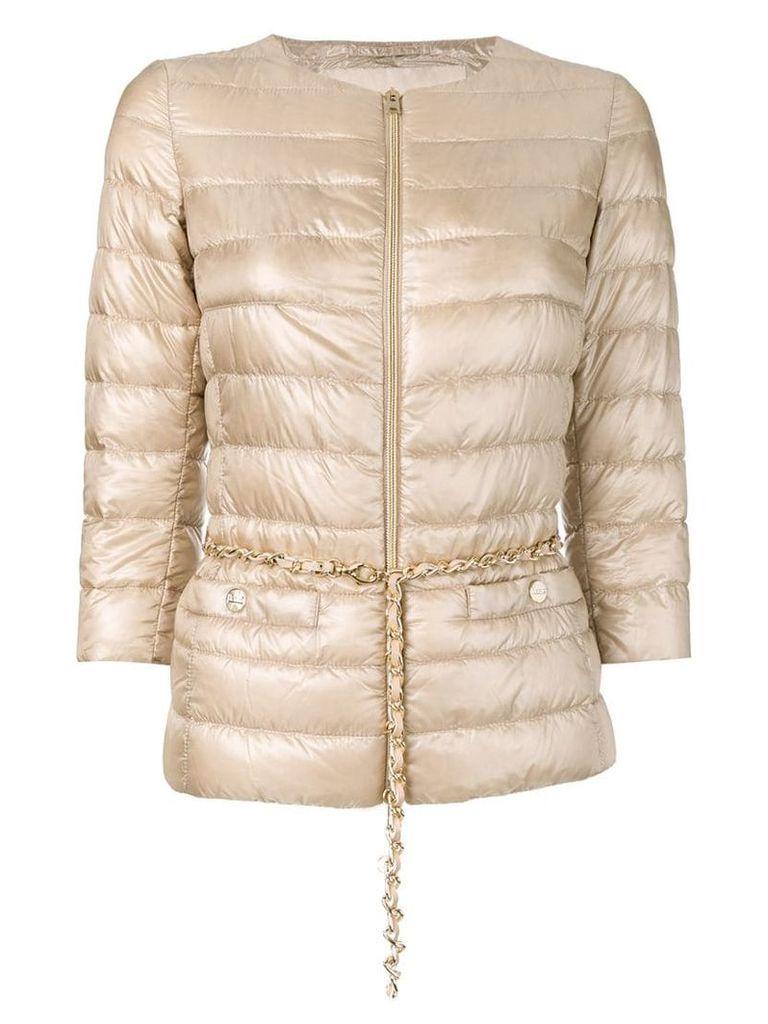 Herno 3/4 sleeves padded jacket - Neutrals