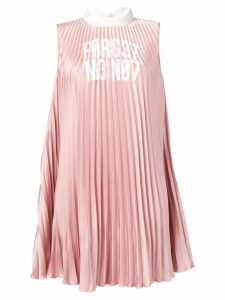 Red Valentino forget me not pleated mini dress - Pink