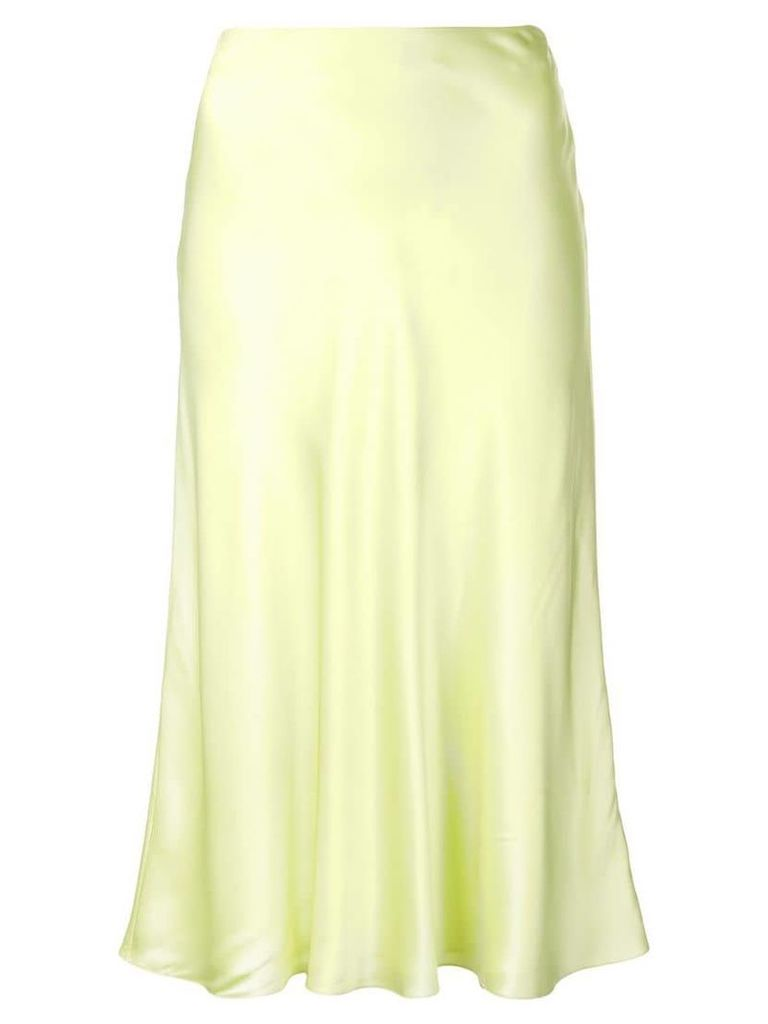 Cinq A Sept Marta sheen mid skirt - Yellow
