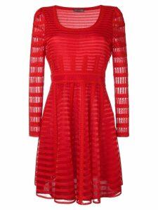 Alexander McQueen short striped dress - Red