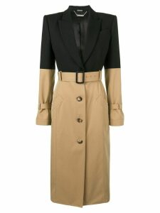 Alexander McQueen trenchcoat with peaked shoulders - Black