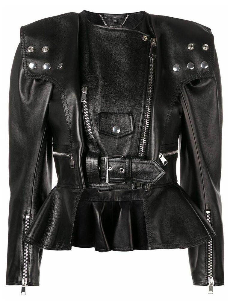 Alexander McQueen peplum biker jacket - Black