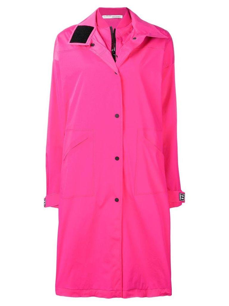 Off-White long K-Way trenchcoat - Pink