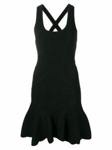 Alexander McQueen peplum hem dress - Black