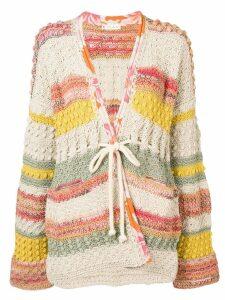 Etro patchwork knit cardigan - Neutrals