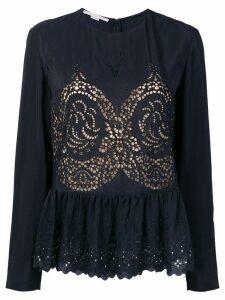 Stella McCartney eyelet peplum blouse - Blue