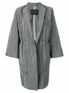 Fabiana Filippi creased mid-length coat - Grey