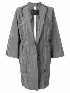 Fabiana Filippi creased mid-length coat - Grey
