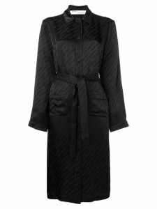Off-White lightweight single breasted coat - Black