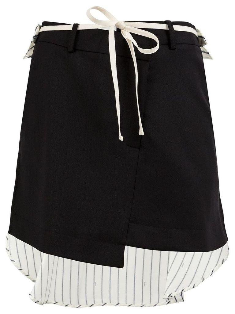 Monse asymmetric hem skirt - Black