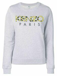 Kenzo rose print logo sweatshirt - Grey