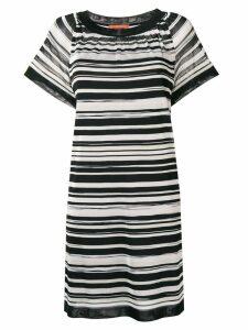 Missoni striped shortsleeved dress - Black