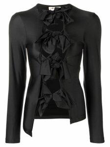 Comme Des Garçons bow details top - Black