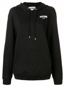Moschino rubber logo hoodie - Black