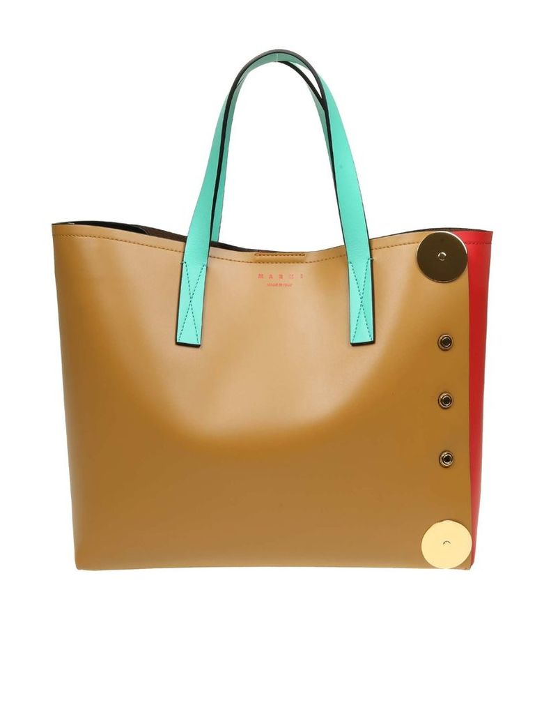 Marni Multicolor Leather Shopping Bag