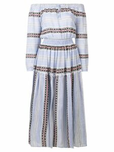Lemlem Riban off shoulder maxi dress - Blue