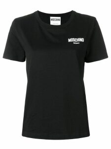 Moschino rubber logo T-shirt - Black