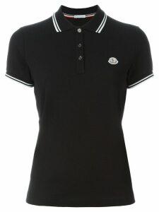Moncler logo polo shirt - Black