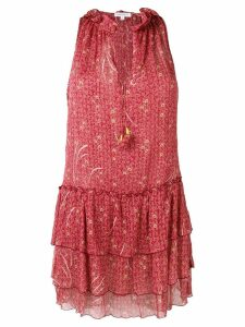 Poupette St Barth floral print ruffled dress - Pink