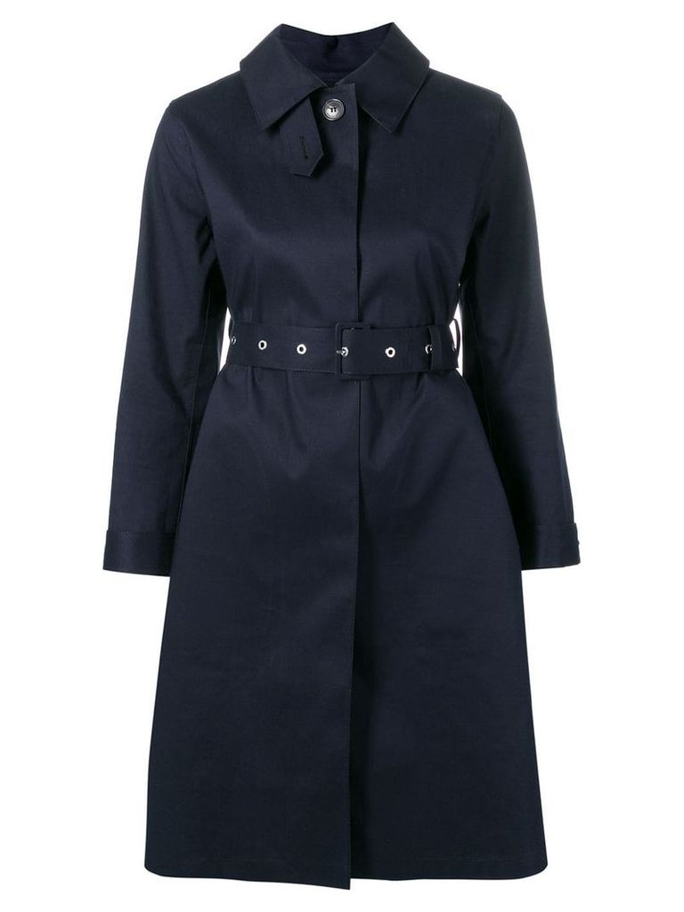 Mackintosh Navy Bonded Cotton Single Breasted Trench Coat LR-061 -
