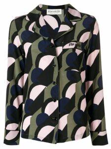 Être Cécile geometric button-up blouse - Black