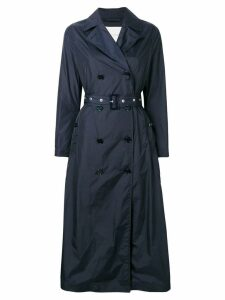 Mackintosh Navy Nylon Long Trench Coat LM-091B - Blue