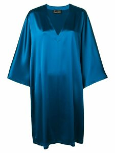 Gianluca Capannolo long-sleeve flared dress - Blue
