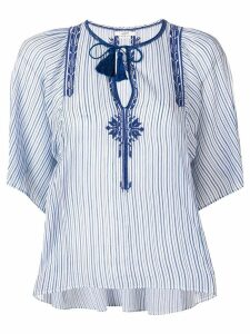 Isabel Marant Étoile Joya tassel embroidered top - Blue