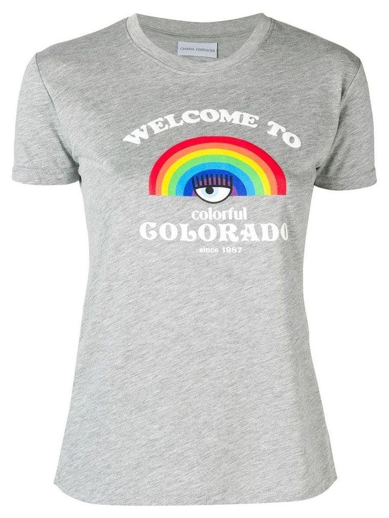 Chiara Ferragni Rainbow print T-shirt - Grey