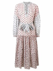 Ulla Johnson pattern tie waist dress - White