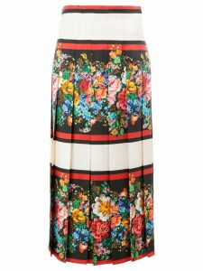 Gucci floral print pleated skirt - Multicolour