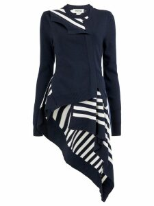 Monse striped asymmetric cardigan - Blue